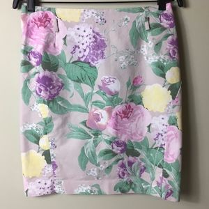 H&M Women's Floral Cotton Blend Mini Skirt
